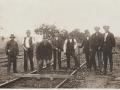 Železniční dělníci ve stanici Strupčice 1920