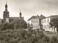 Kostel a škola od severu po 2. svět. válce