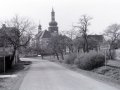 Kostel od východu - 80. léta 20. stol