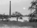 Komín býv. Hennlichovy cihelny - 80. léta 20. stol.